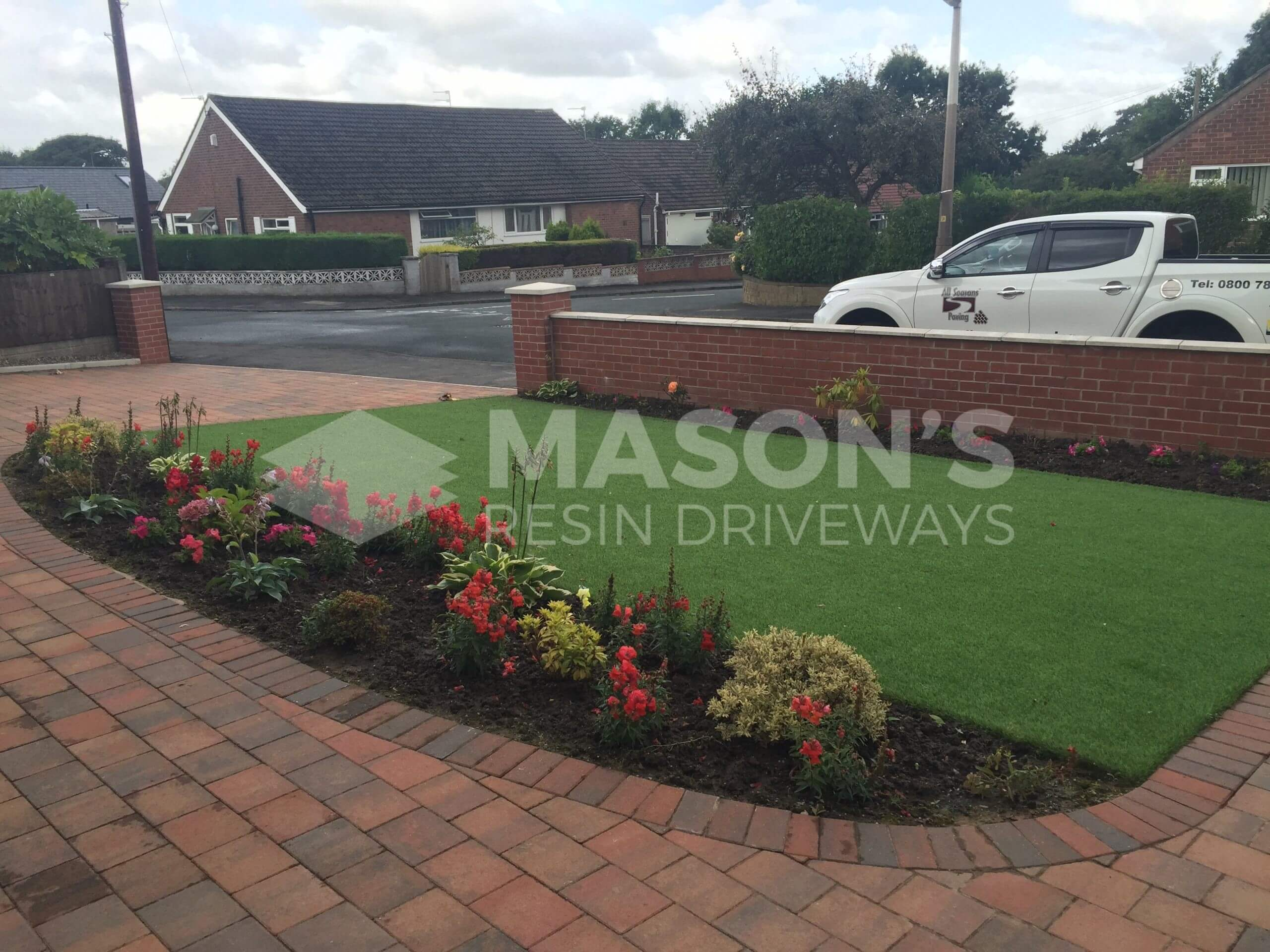 street view of artificial lawn done in preston, fulwood
