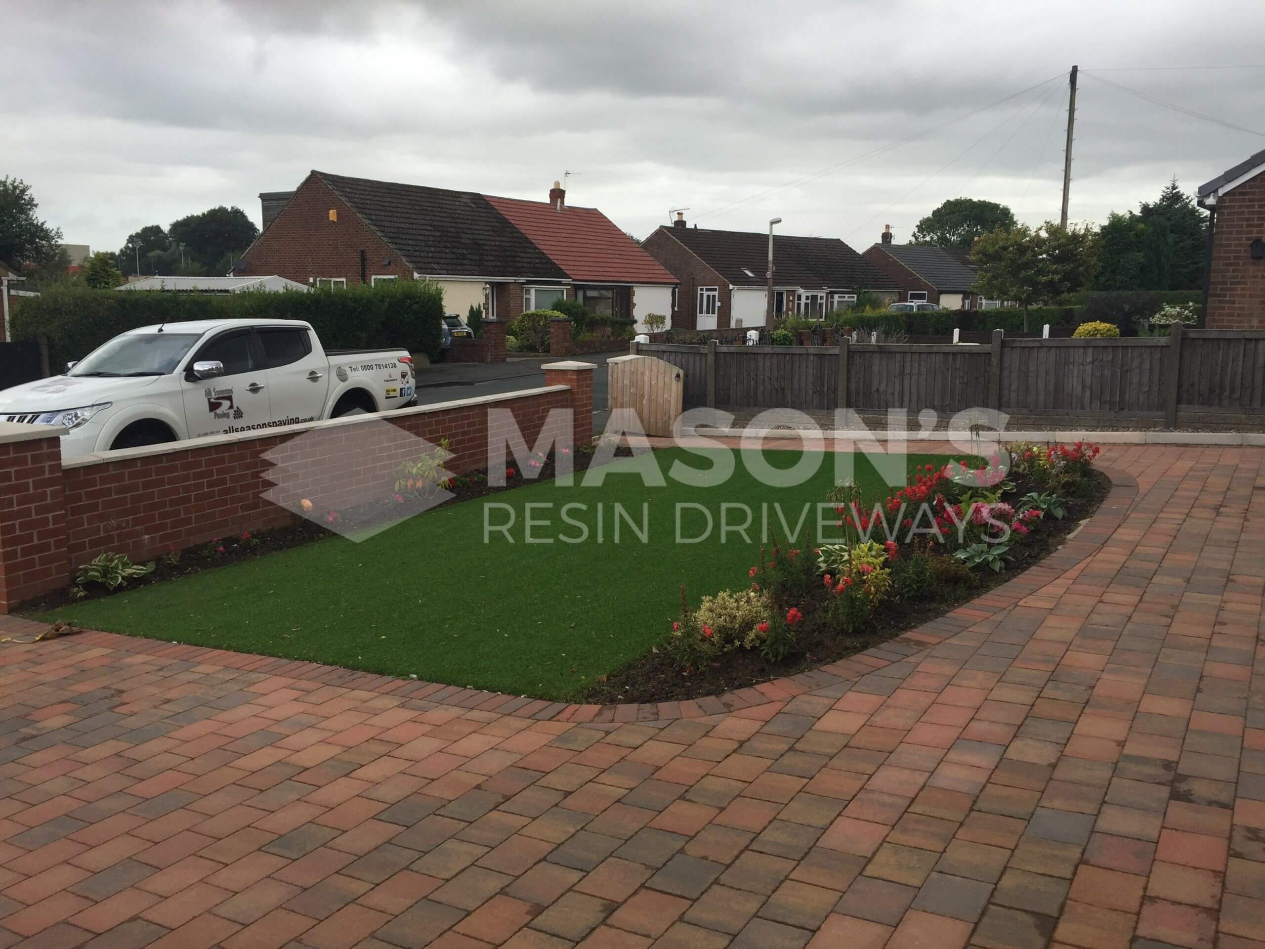 side view of artificial grass & lawn done in fulwood, preston