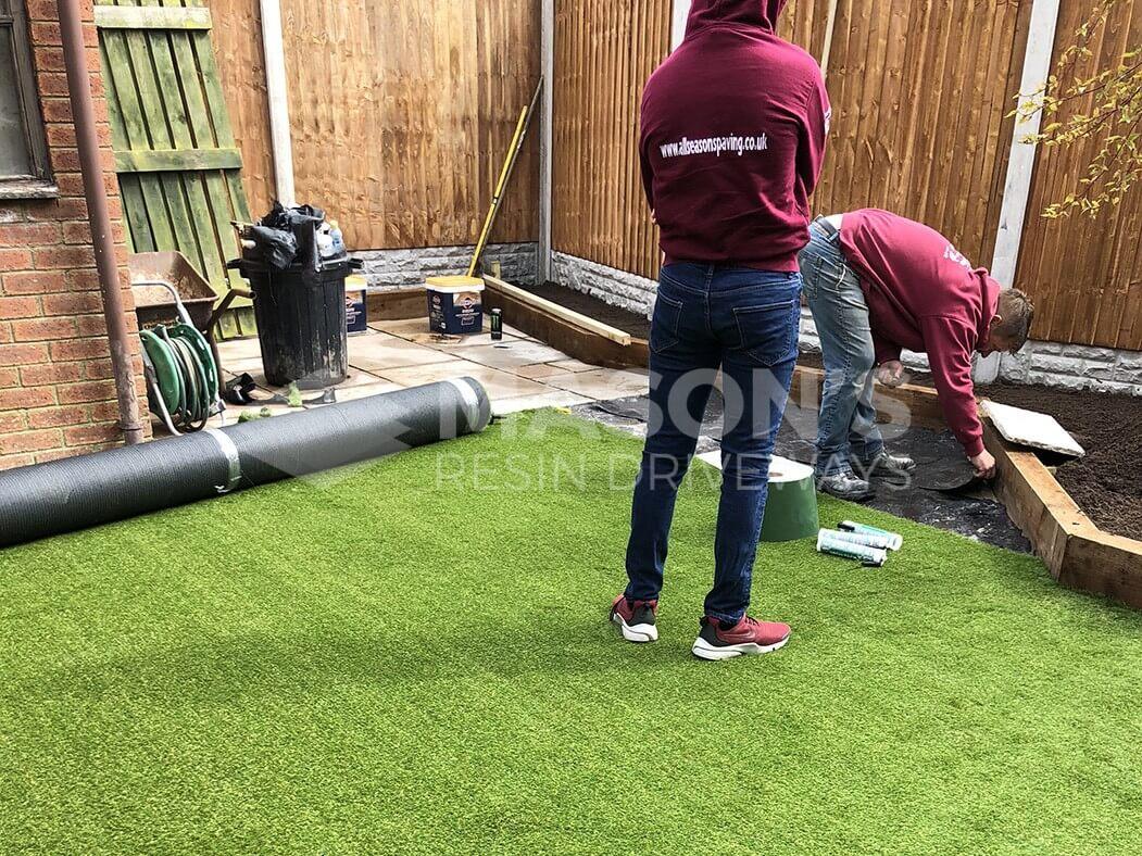 artificial lawn landscaping in preston, lancashire