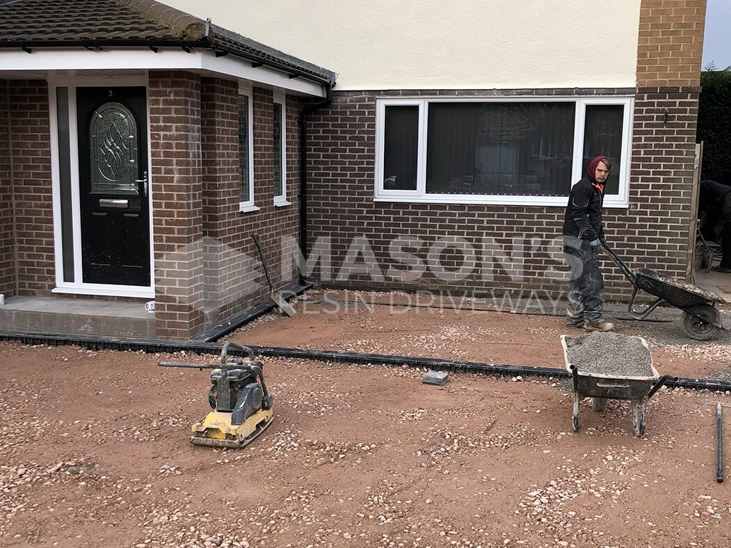 Process of block paving driveway in Leyland