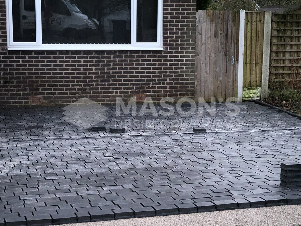 Block Paving nearly complete in Leyland Driveway