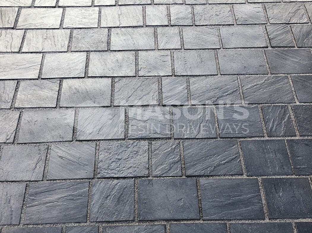 Close up of block paving in Leyland Driveway