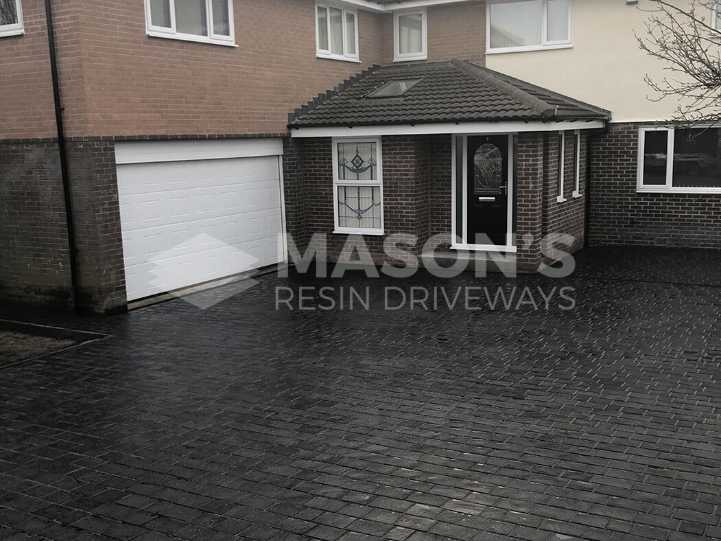 View of house and Block Paving Driveway in Leyland