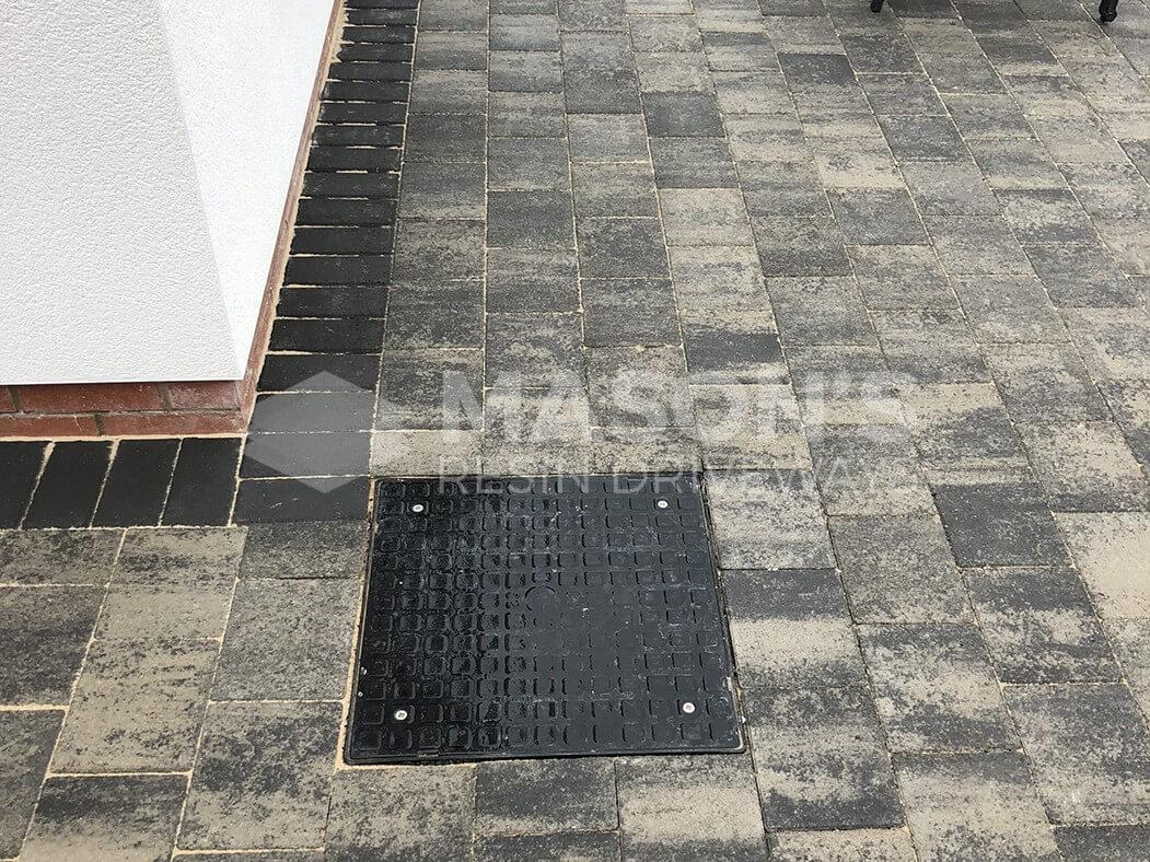 Close up of Block Paving Driveway Shannon Slate in Preston, Lancashire