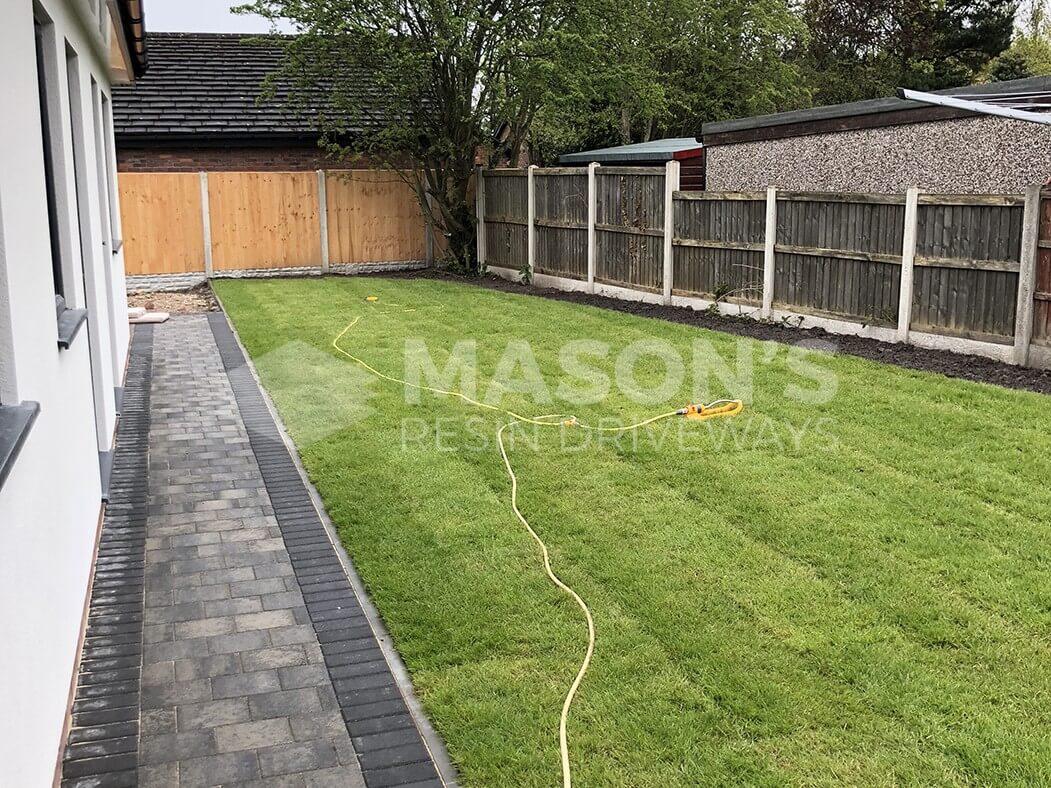 Grass with Block Paving Driveway in Preston, Lancashire