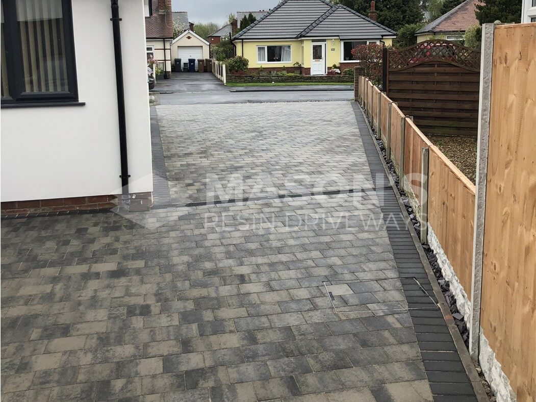View of Block Paving Driveway leading to the front in Preston, Lancashire