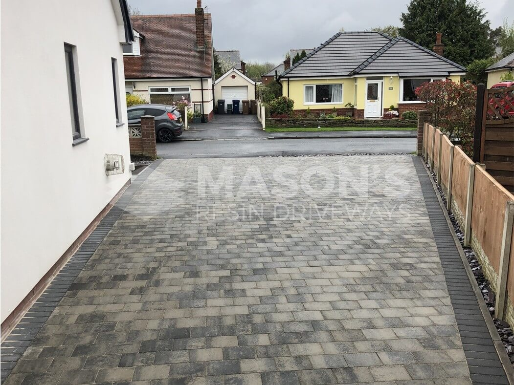 Driveway view of Block Paving completed in Preston, Lancashire