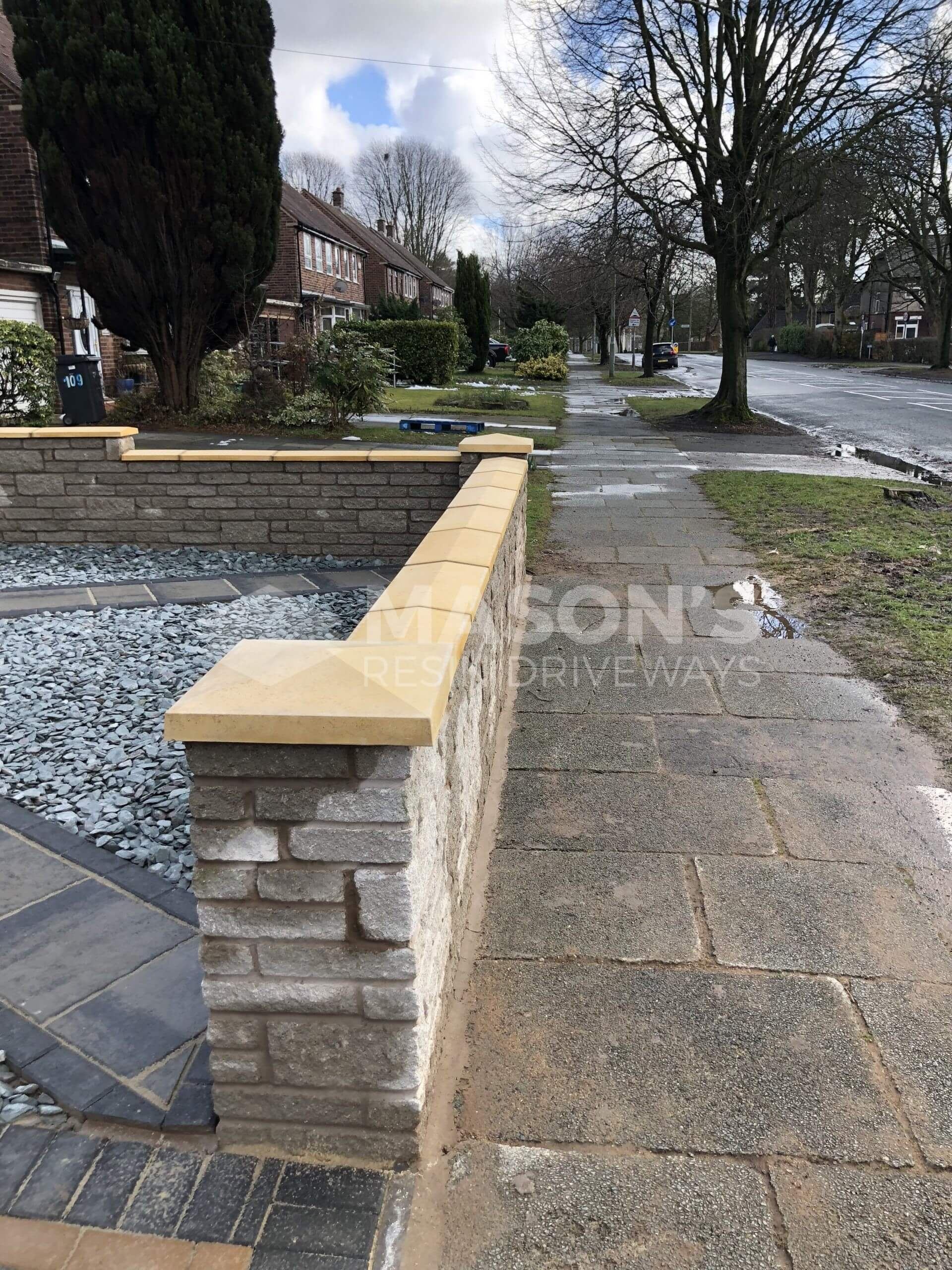 block paving and walling done in leyland, near preston
