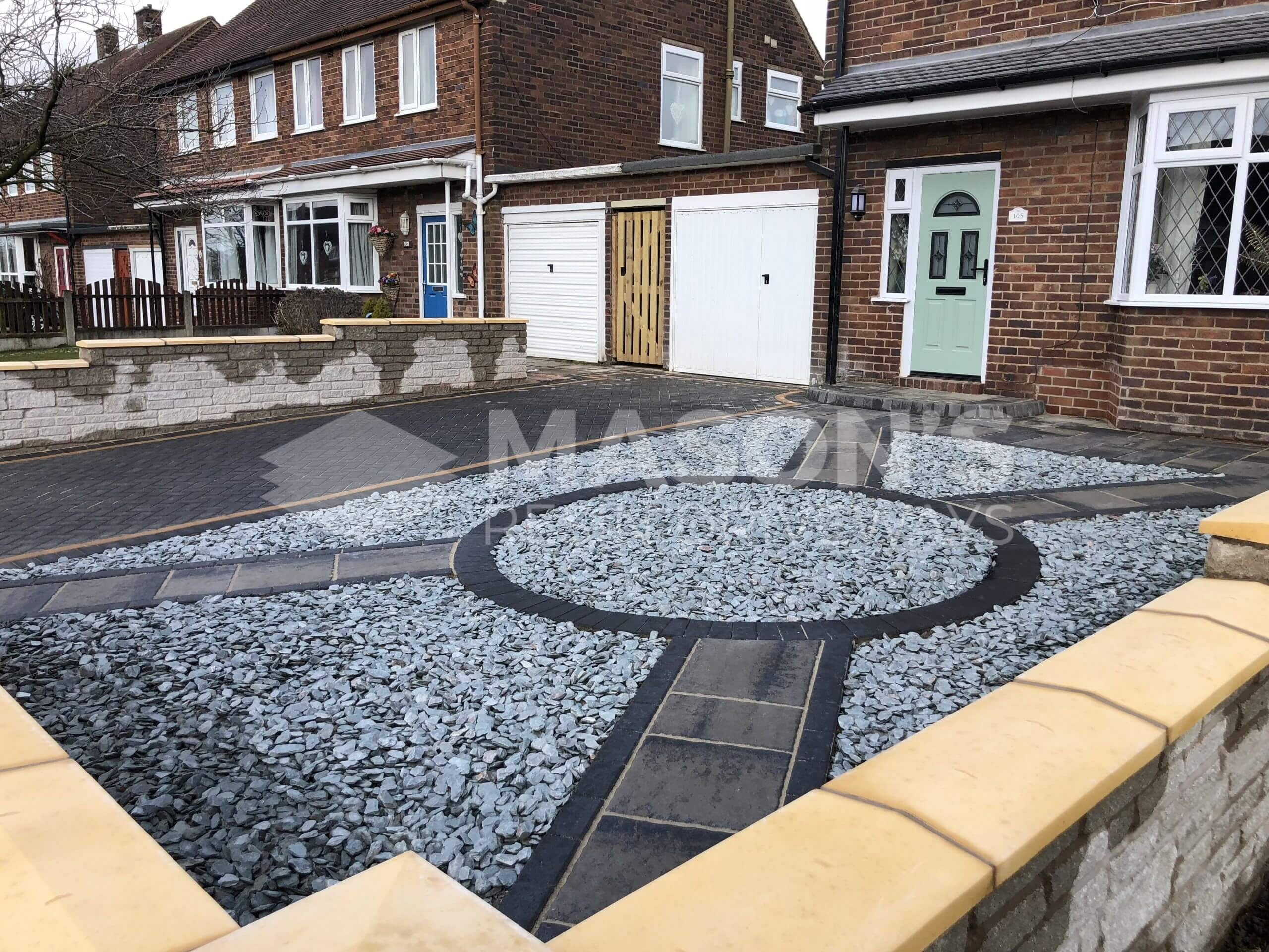 completed block paving and walling in preston, leyland