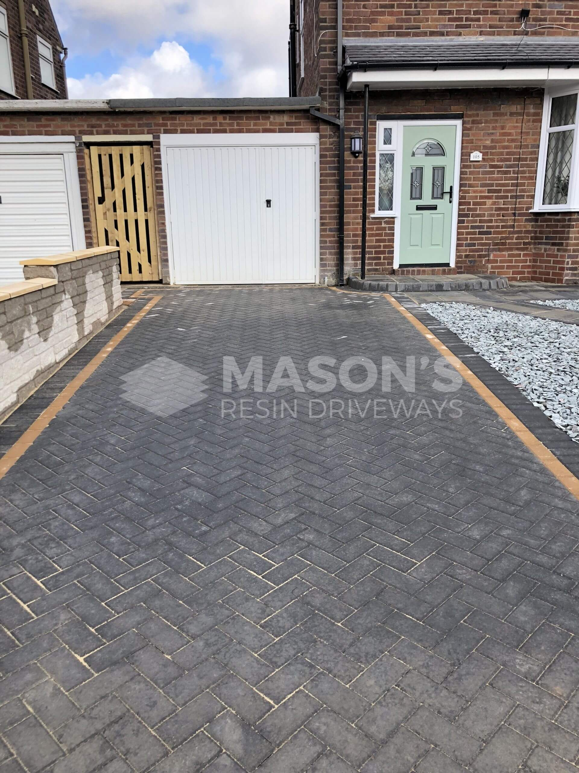 house view of block paving driveway done in leyland near preston