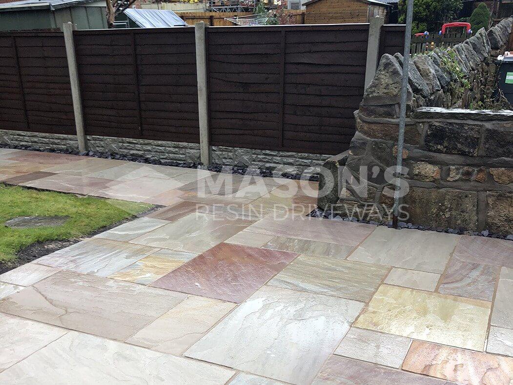 bradstone indian sandstone patio in chorley, near preston