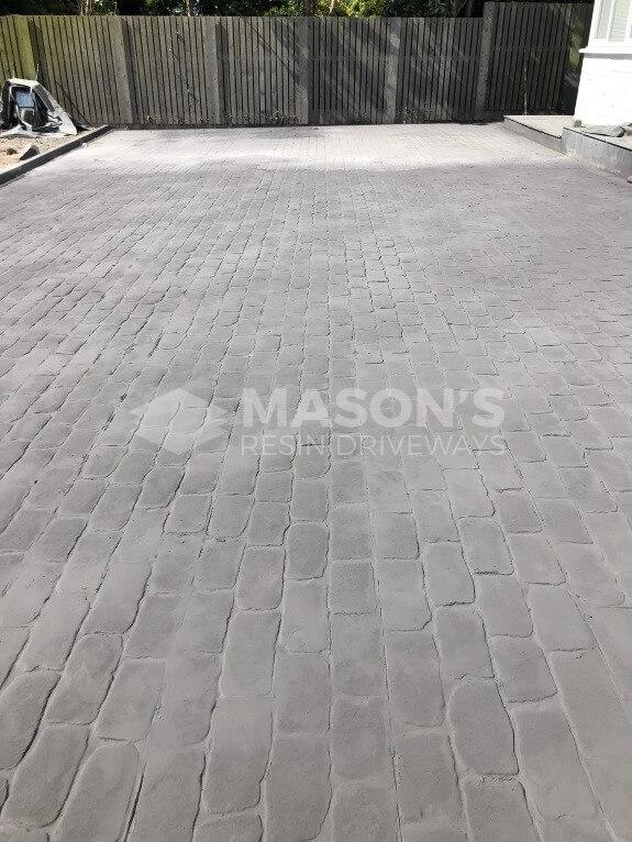 finished concrete pattern cobble driveway lancashire