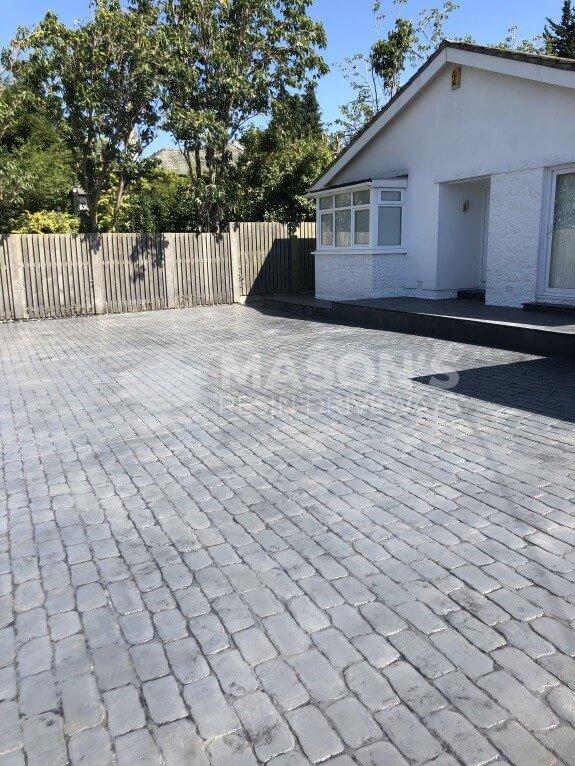 cobble pattern concrete driveway lancashire