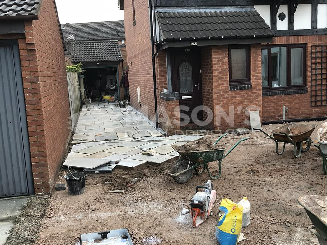 Process of Framed Indian Sandstone in Lancashire, Preston