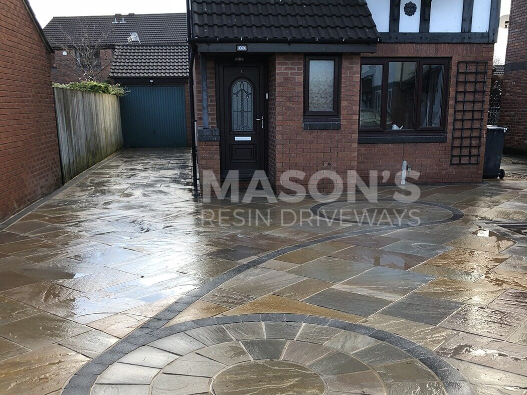 indian stone flagged driveway lancashire, preston