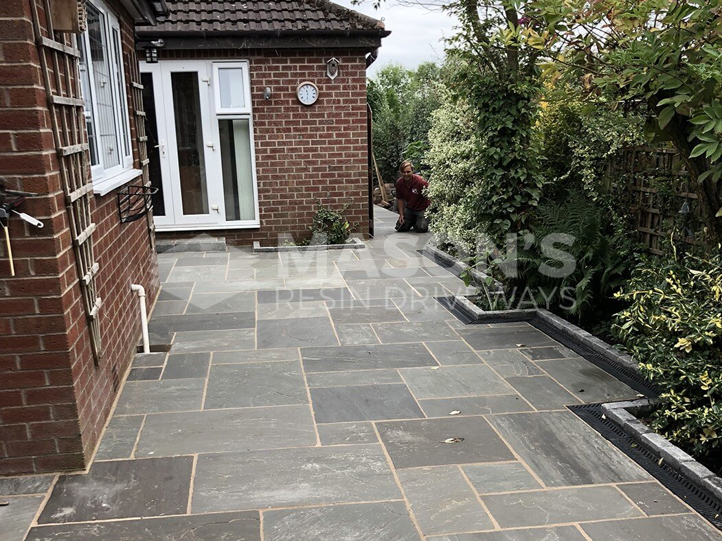 Grey Indian Sandstone Driveway in Preston