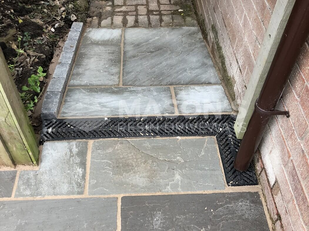 Close up of Indian Sandstone Driveway Grey in Preston
