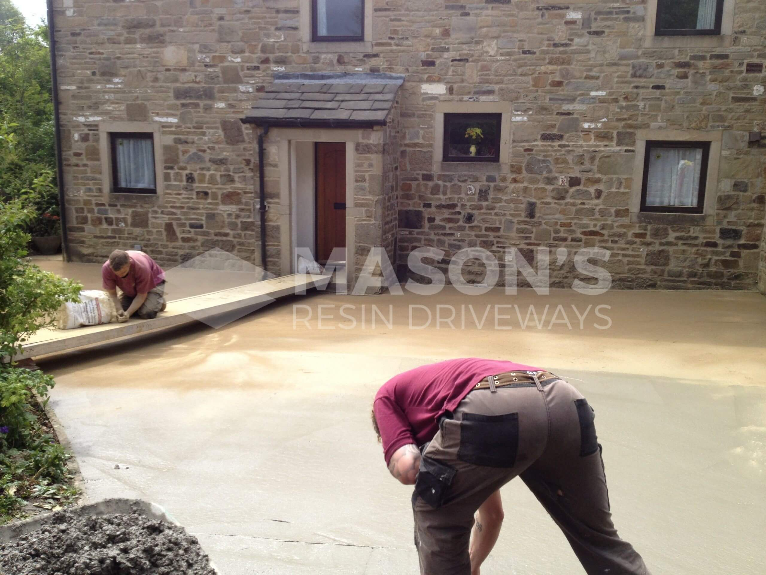 process of pattern imprinted concrete drive near preston