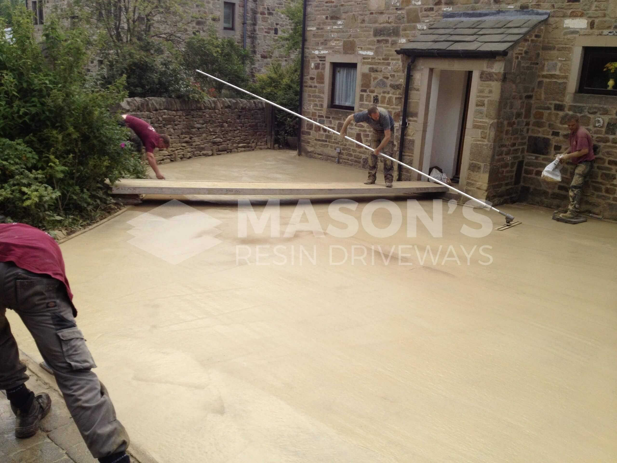 smoothing pattern imprinted concrete driveway near preston