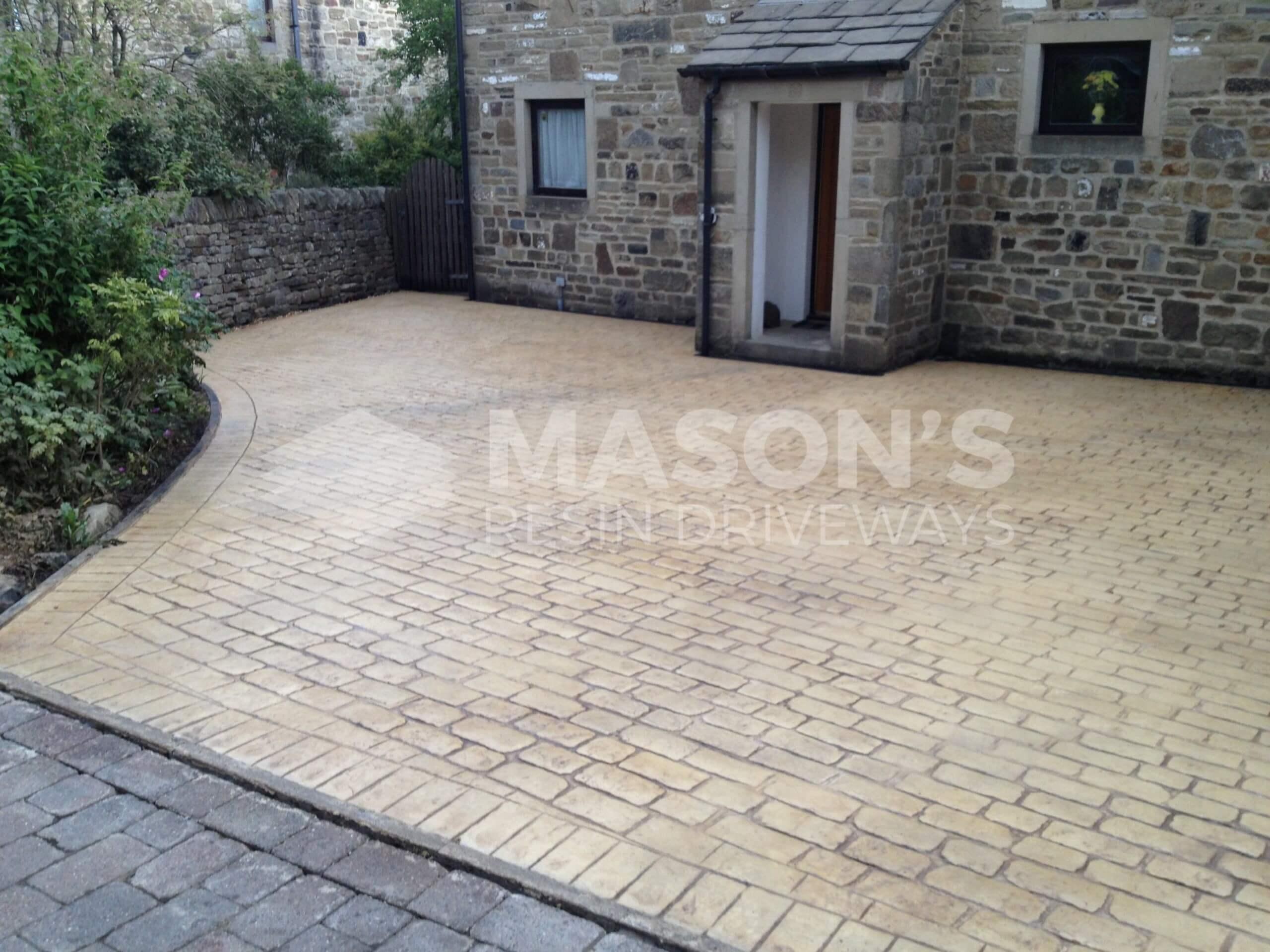 pattern imprinted driveway near preston