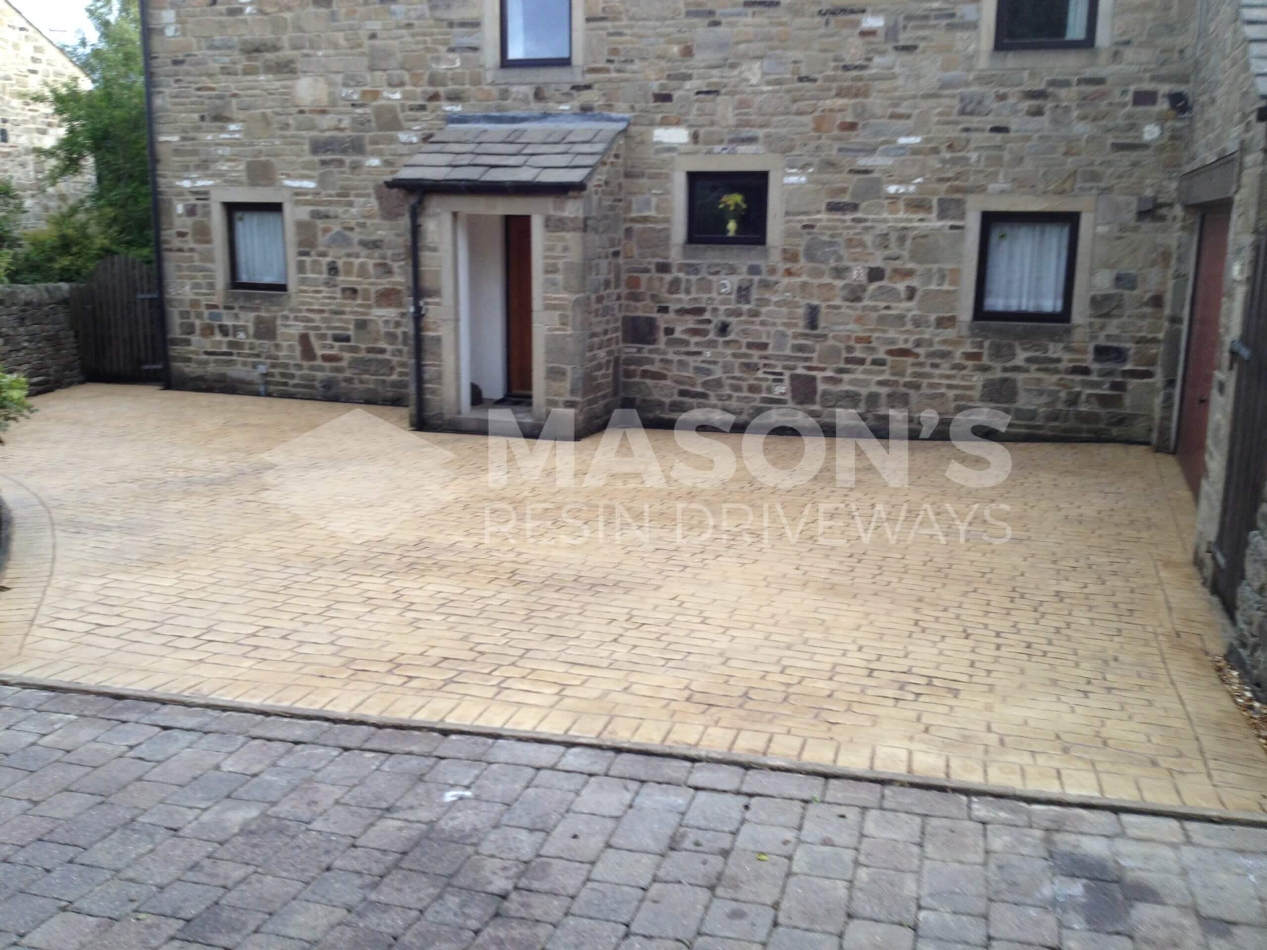 finished pattern imprinted concrete driveway near preston