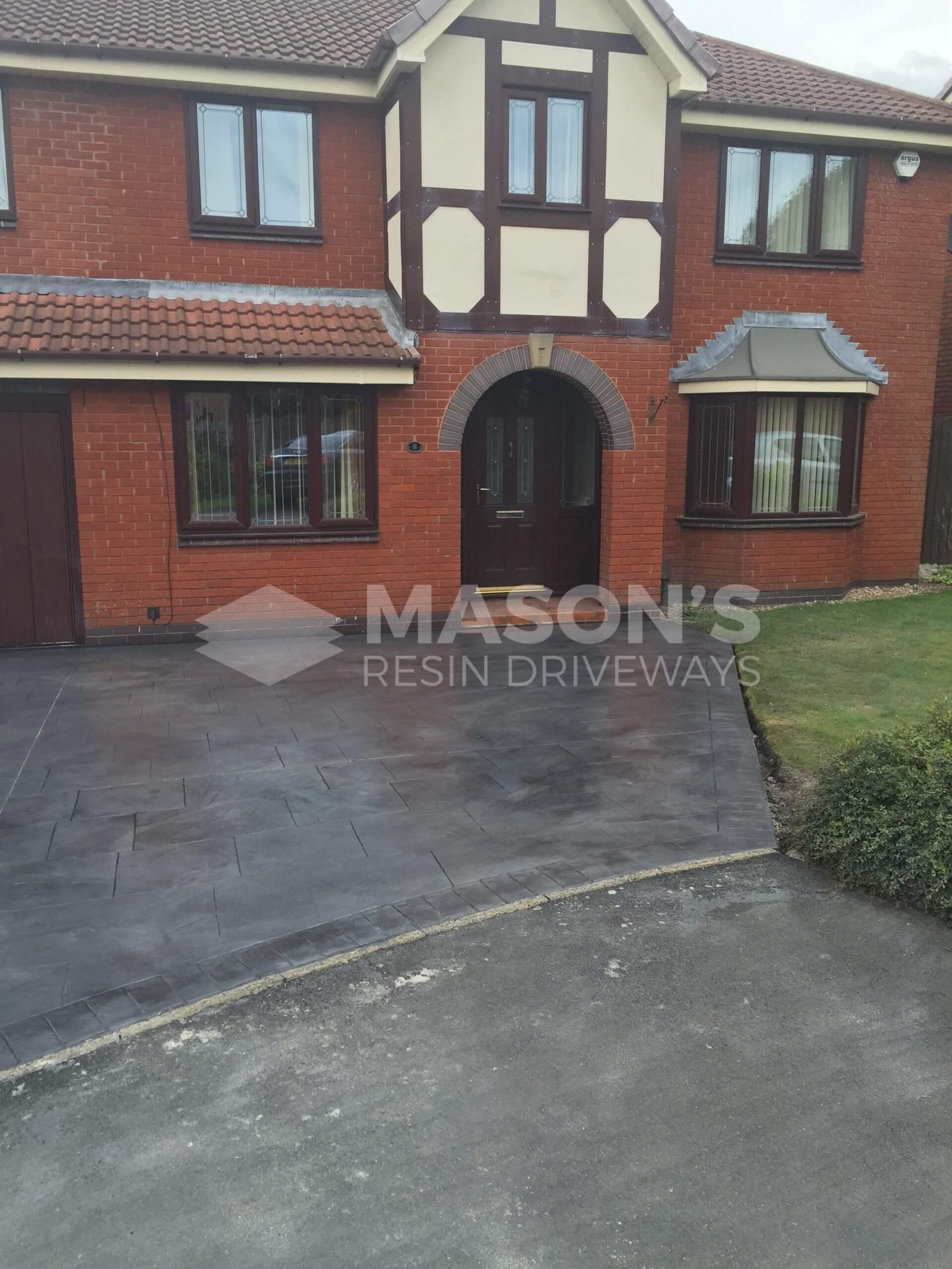 pattern imprinted concrete driveway preston, lancashire