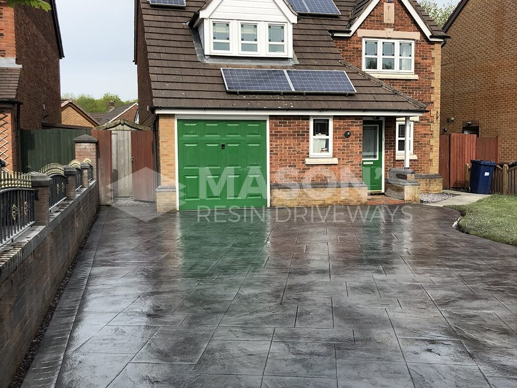 Finished process of Pattern Imprinted Concrete Driveway Preston
