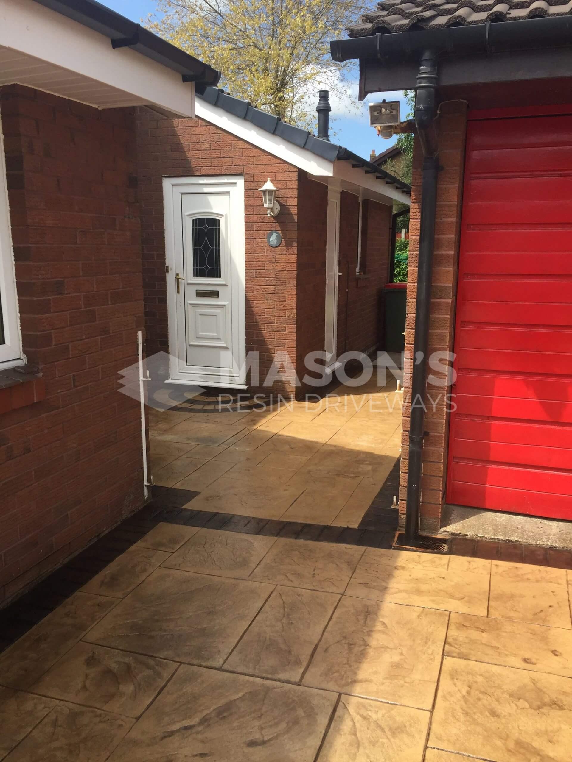 alley door for pattern imprinted concrete lea preston
