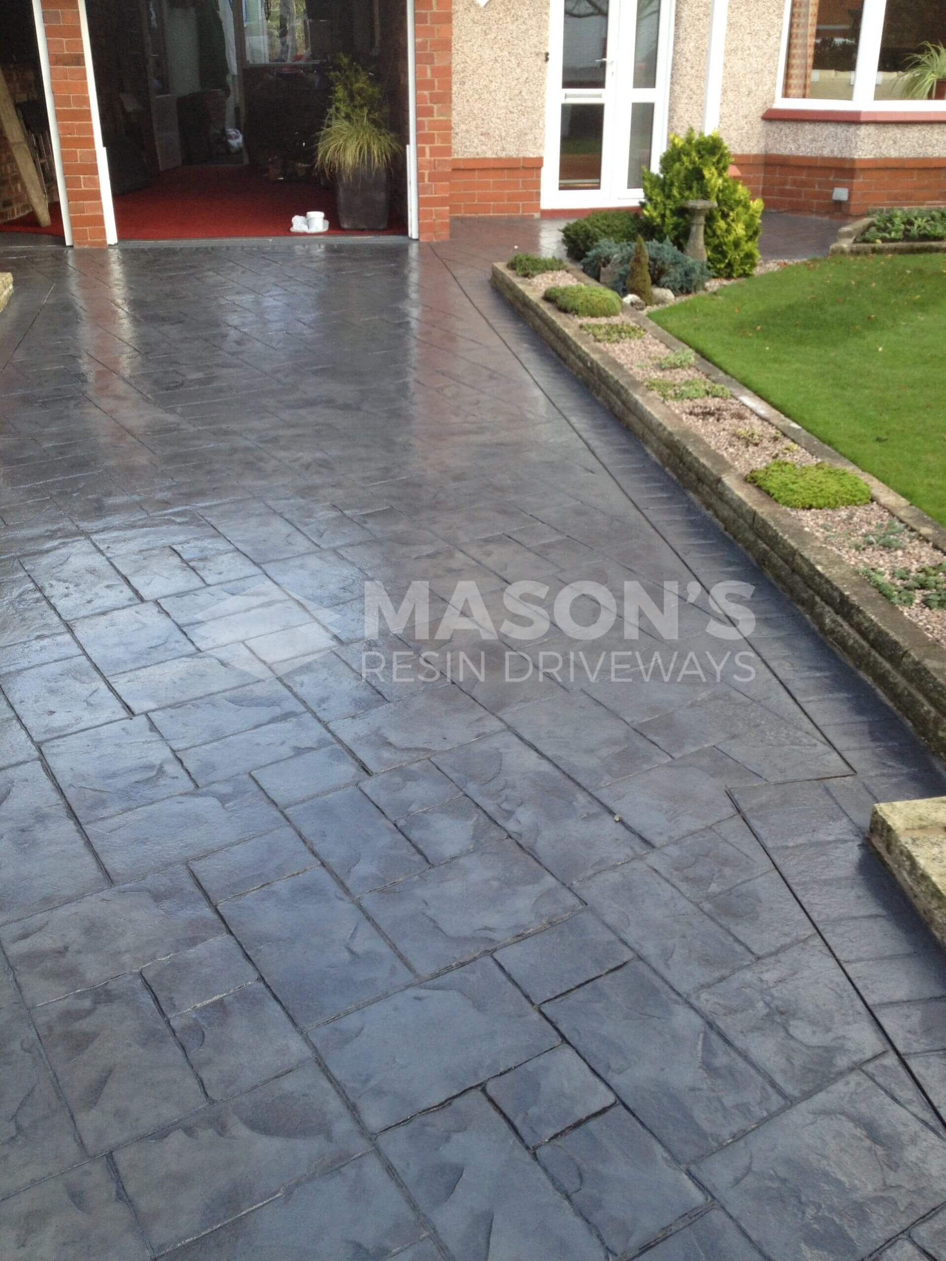photos of pattern imprinted concrete driveway in southport lancashire