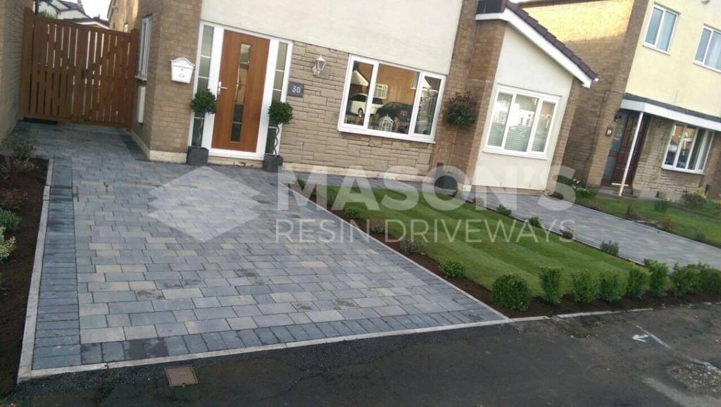 Pennant Grey Block Paving Driveway in Preston, Lancashire