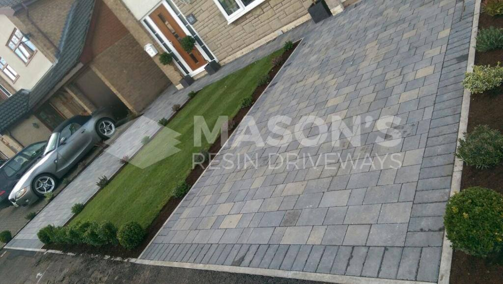 Double Pennant Grey Block Paving Driveway in Preston, Lancashire