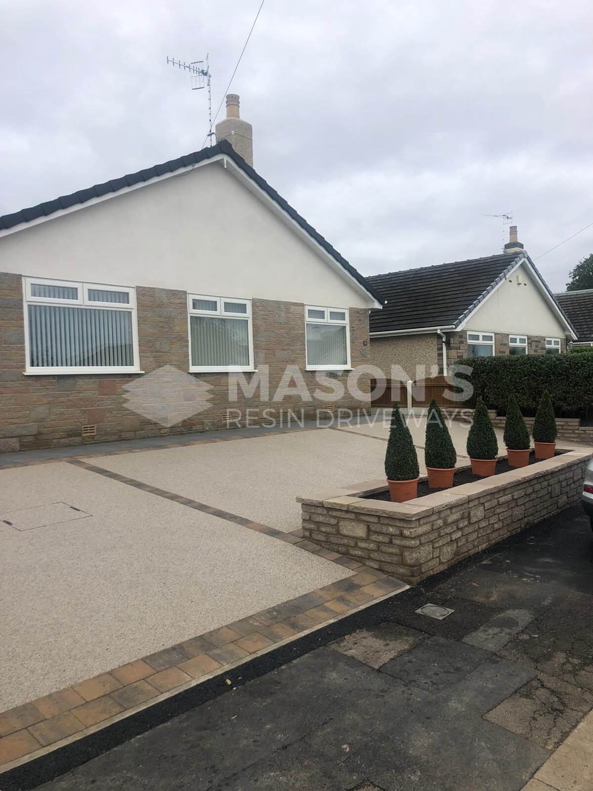 House and Resin Bound Driveway pearl quartz in Preston, Lancashire