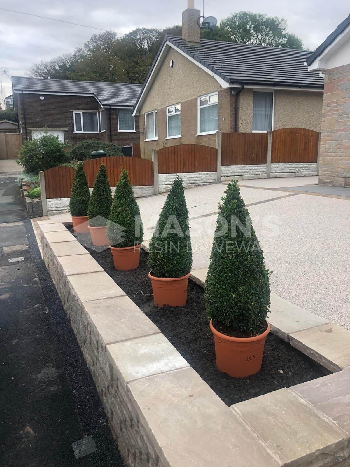 Plant view of Resin Bound Driveway pearl quartz in Preston, Lancashire