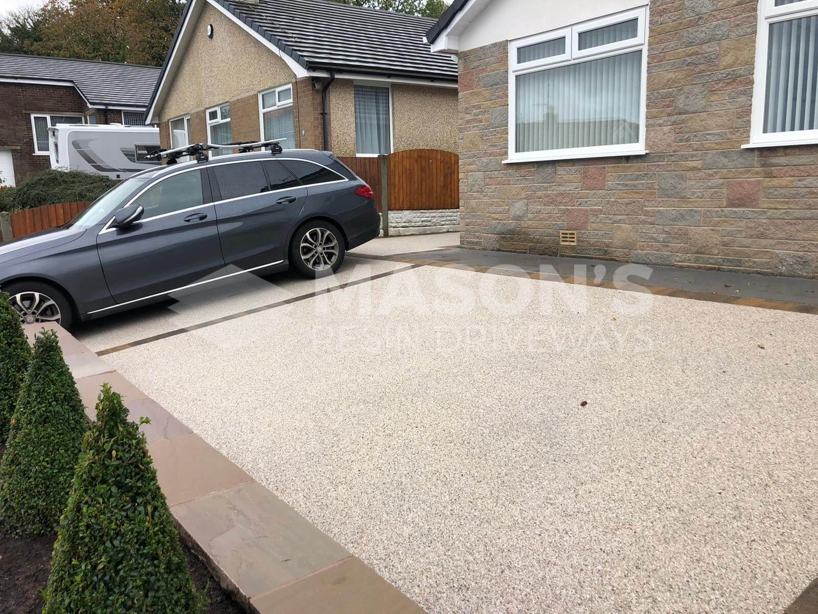 Another view of car on Resin Bound Driveway in Preston, Lancashire