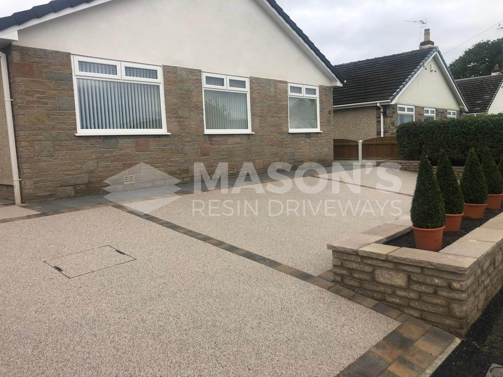 Pearl Quartz Resin Bound Driveway in Preston, Lancashire