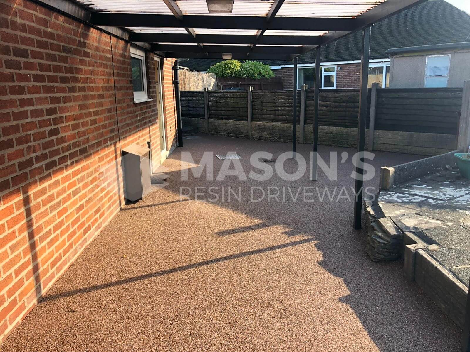 Sheltered Resin Bound Driveway in Staffordshire pink in Preston, Lancashire
