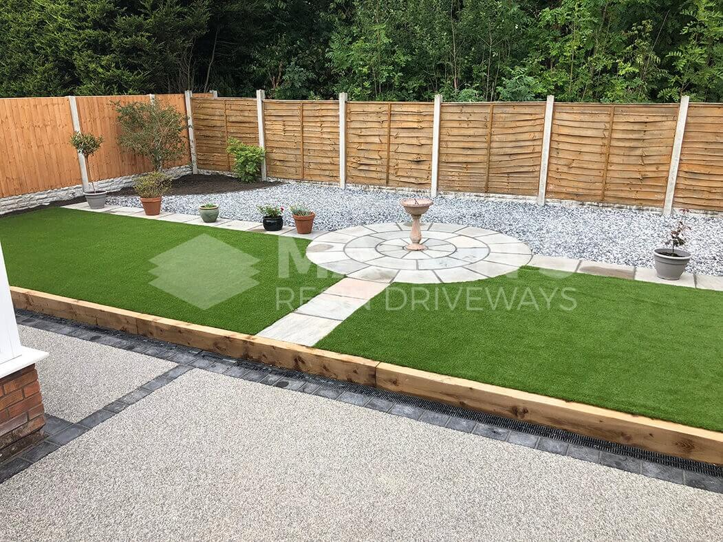 Resin bound aggregate and full landscaping project in Lostock Hall near Preston, Lancashire.