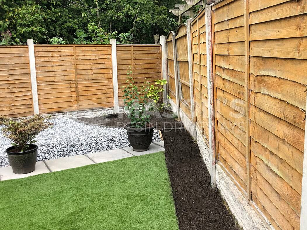 Landscaped garden of Resin Bound Driveway project, Preston, Lancashire