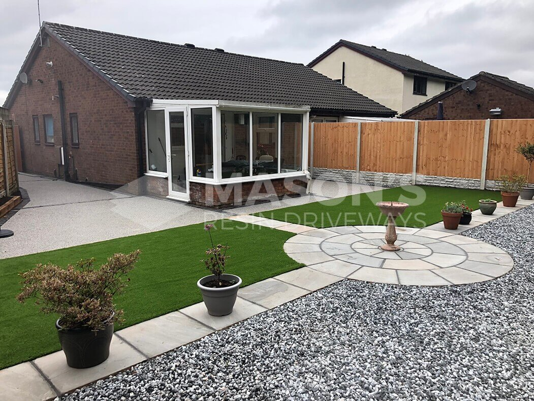 Full view of landscaping and resin bound driveway, Preston, Lancashire