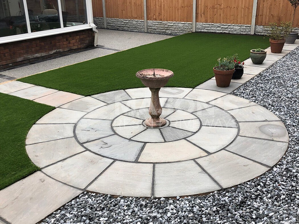 Close up of landscaping, resin bound driveway in Preston, Lancashire