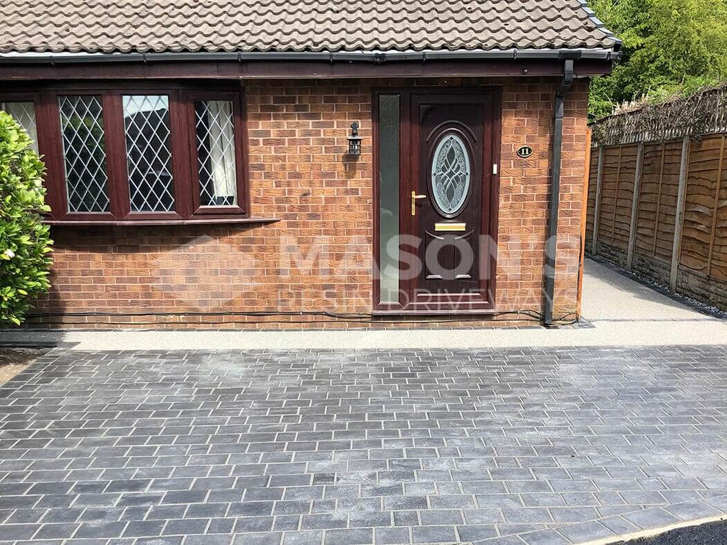 Paving and resin bound driveway view in Preston, Lancashire
