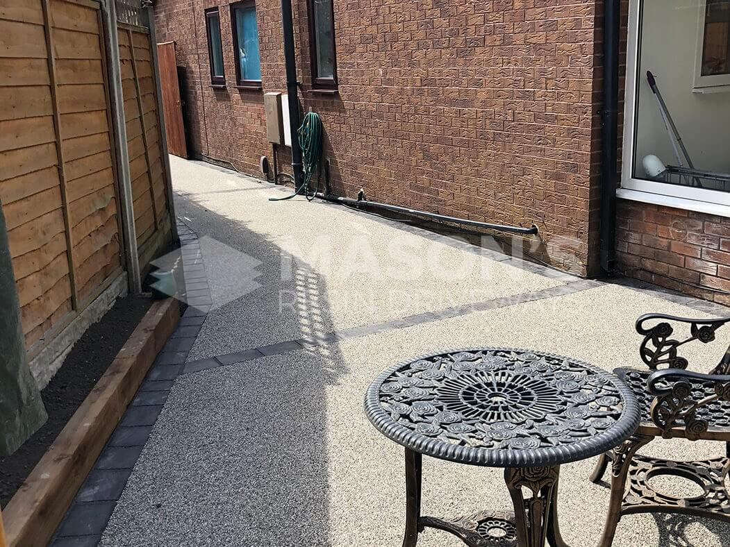 Resin bound driveway close up in Preston, Lancashire