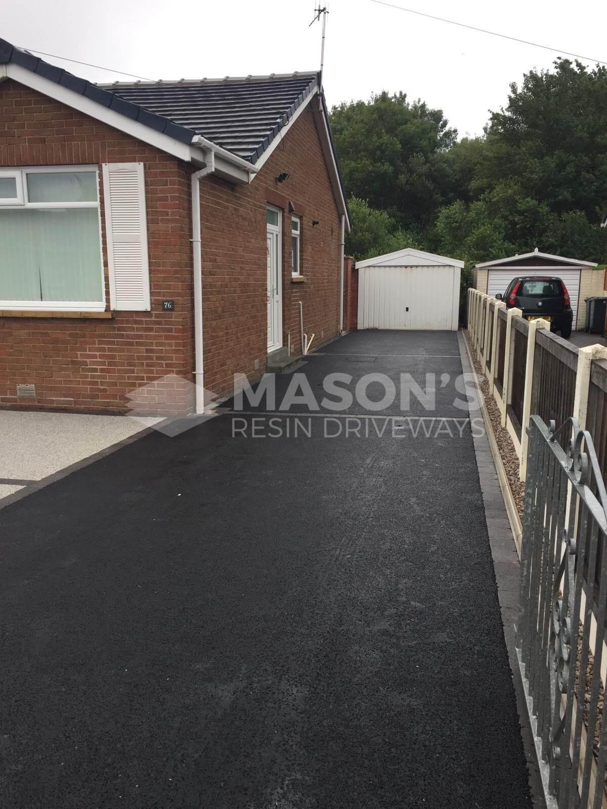 Silver Quartz Resin Driveway, view of tarmac, Preston, Lancashire