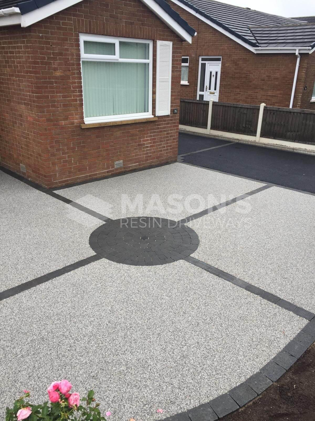 View of the Silver Quartz used on Resin Driveway, Preston, Lancashire