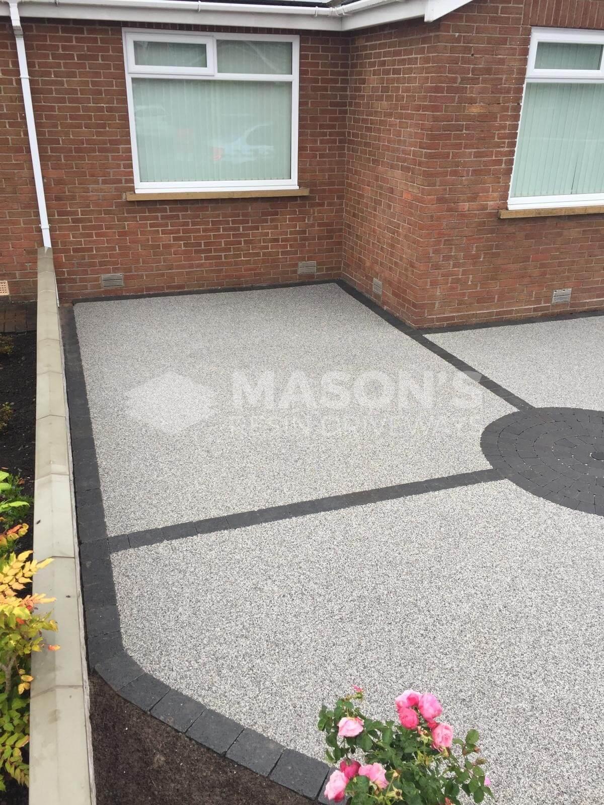 Side of Silver Quartz Resin Driveway in Preston, Lancashire