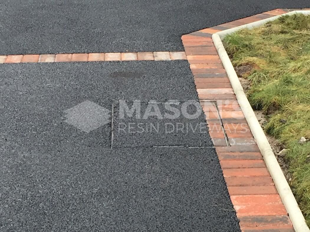 Close up of Framed Tarmac Driveway in Preston