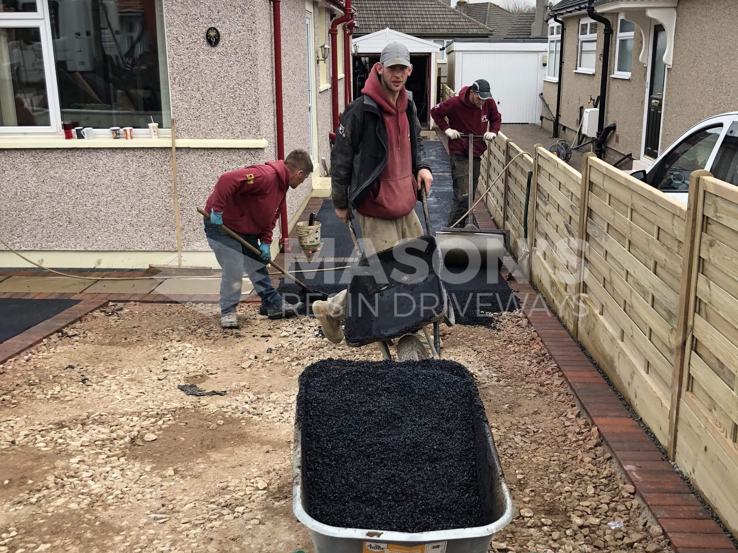 Laying Tarmac for Driveway with Indian Sandstone in Preston, Lancashire