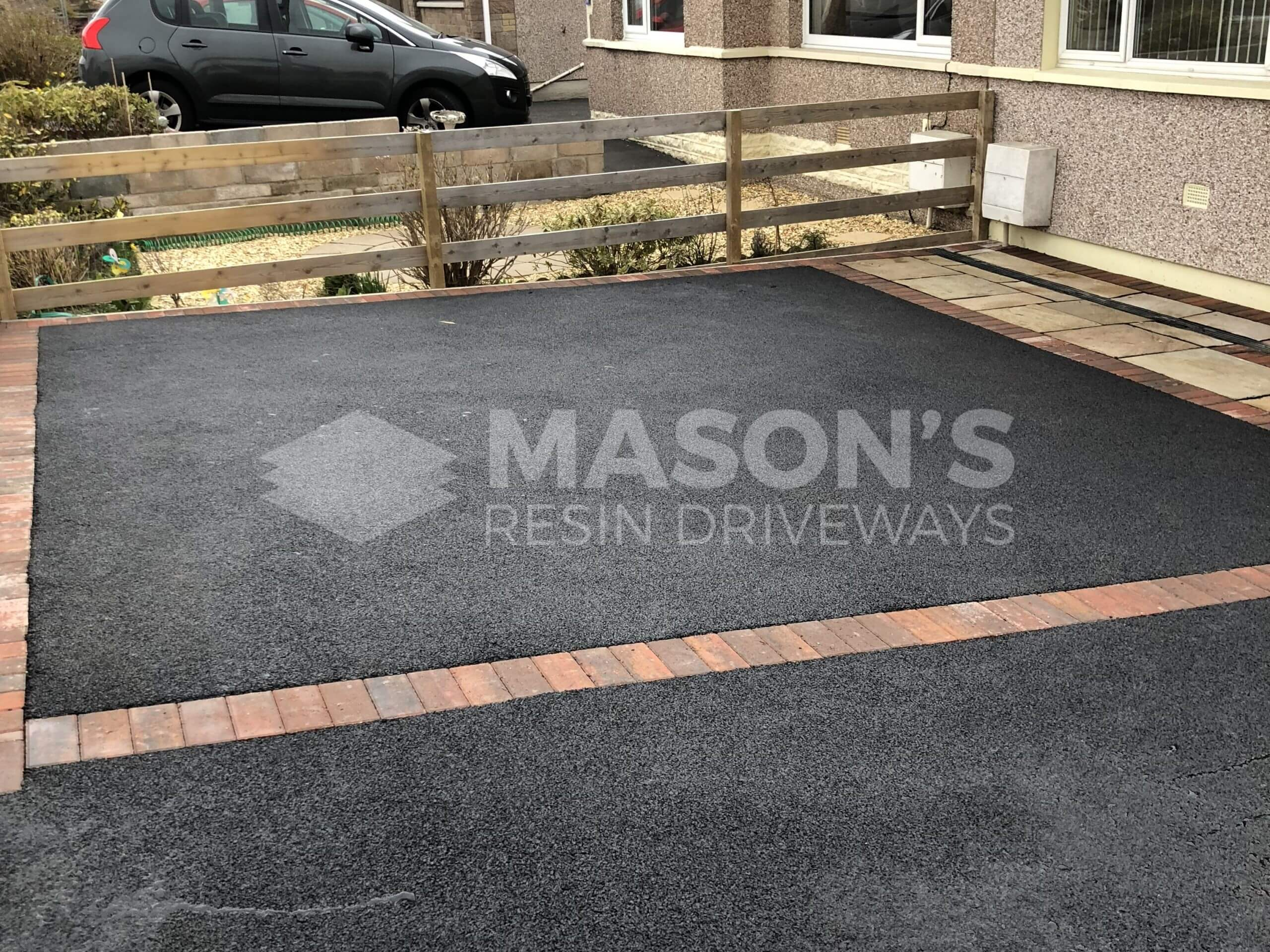 Close up of Tarmac Driveway with Indian Sandstone in Preston, Lancashire