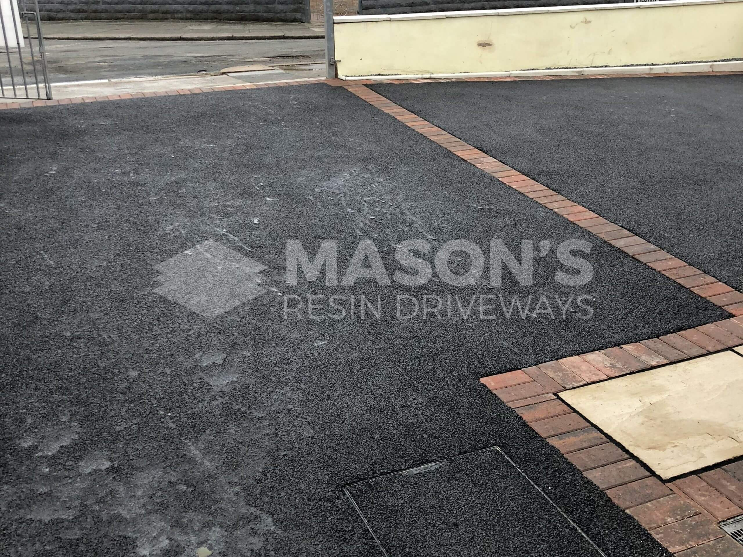 Different view of Tarmac Driveway with Indian Sandstone in Preston, Lancashire