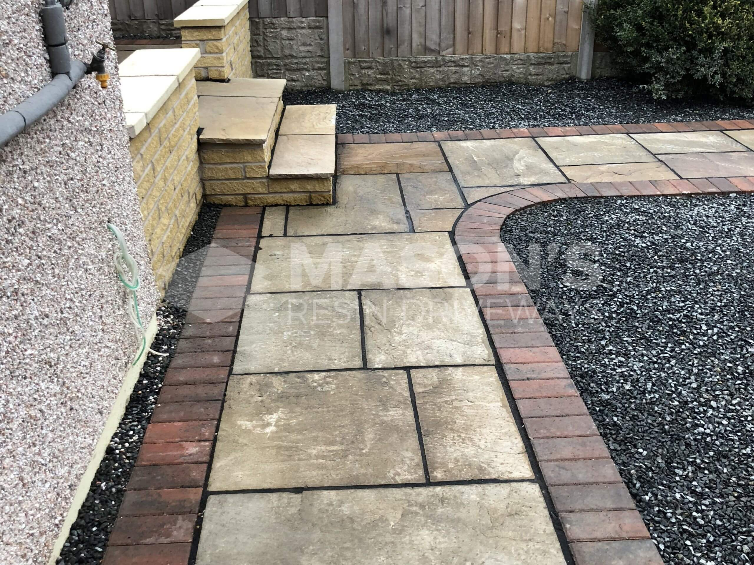 Indian Sandstone view of Tarmac Driveway job done in Preston, Lancashire